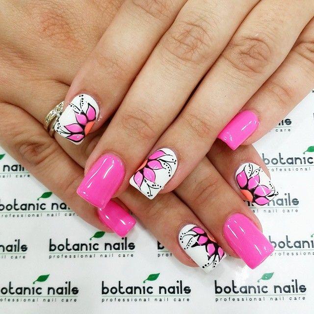#nailart #pink