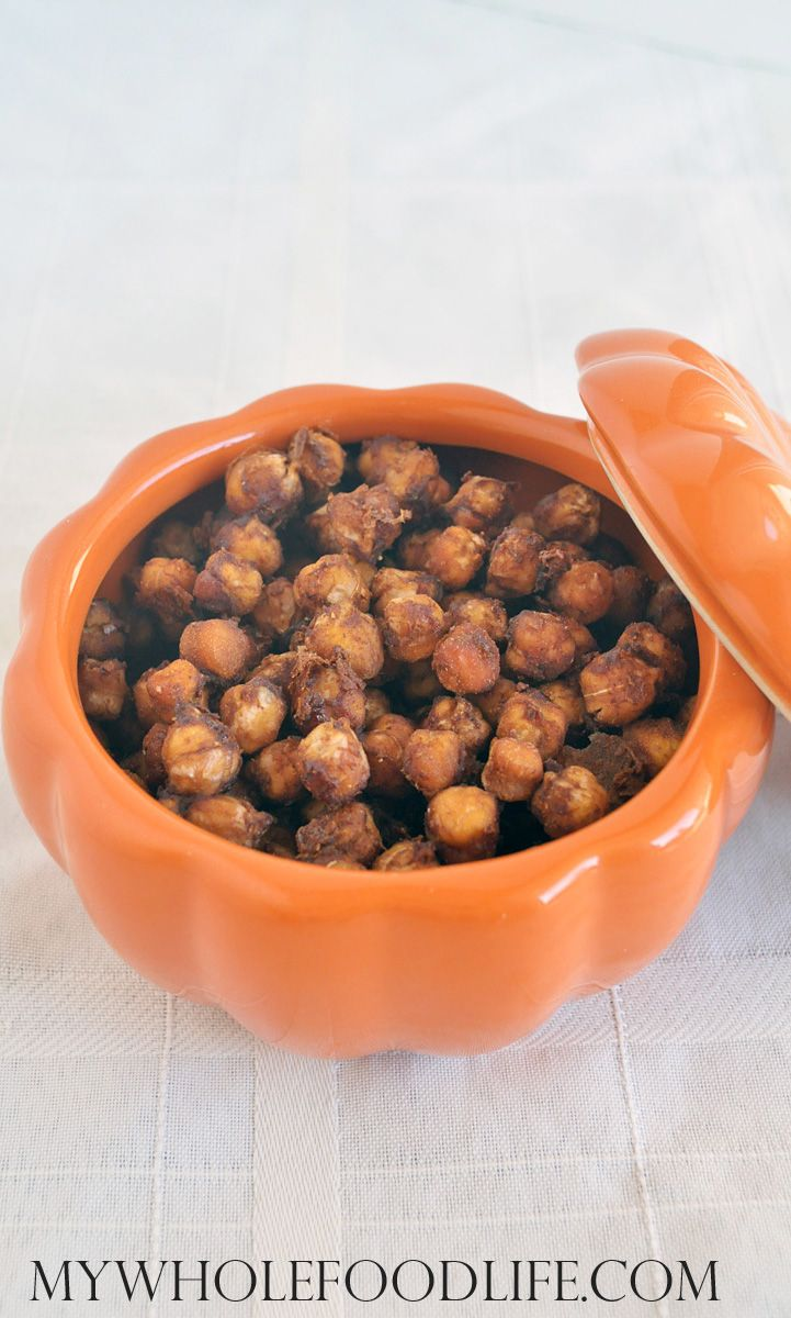 Pumpkin Spice Roasted Chickpeas - My Whole Food Life