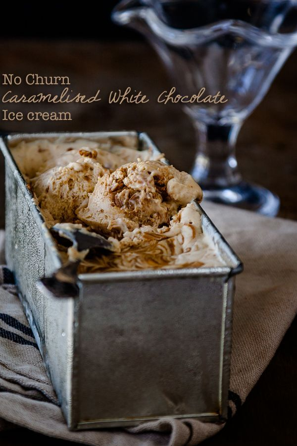 No churn caramelised white chocolate ice cream | DeliciousEveryday.com Only 3 ingredients!!