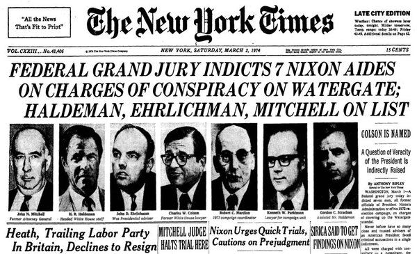 Image Result For New York Times March 1974 Today In History