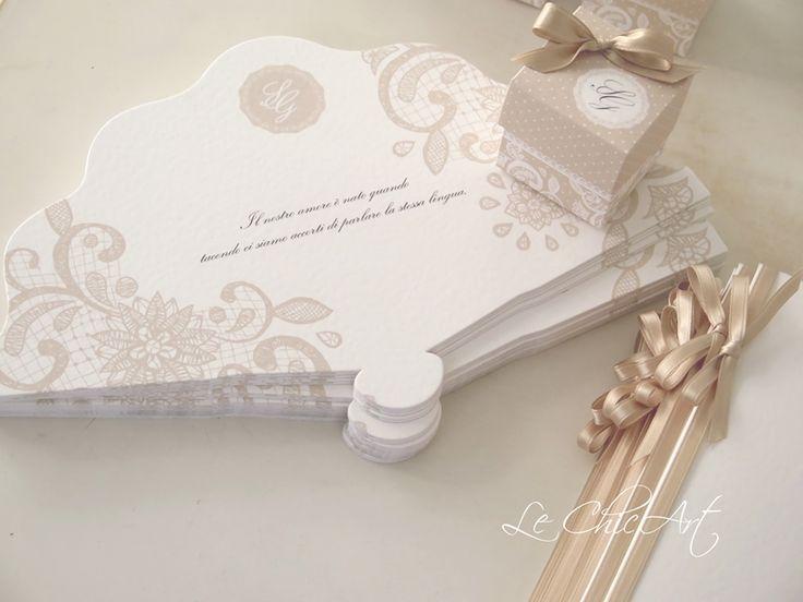 Ventaglio Vintage Almond toasted wedding