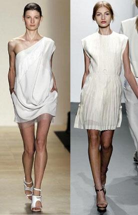 Vestido blanco para fiesta de noche, (Web de la Moda)