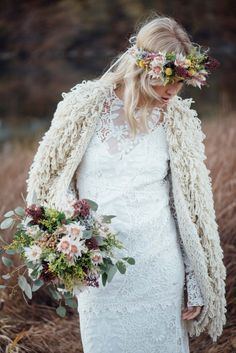 Felljacke für die Braut
