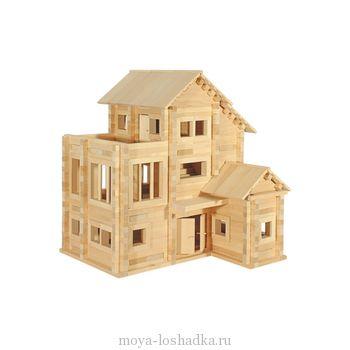 Конструктор деревянный Теремок 3 (Пелси, 790 деталей)