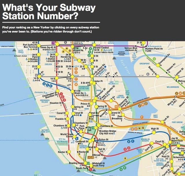 Fun NYC Subway Game: How Many Stations Have You Been To?