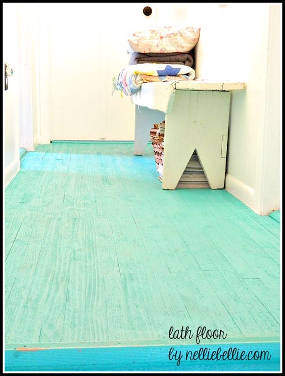 10 best home remodeling images on pinterest painted floors cheap flooring idea lath floor tutorial diy solutioingenieria Images