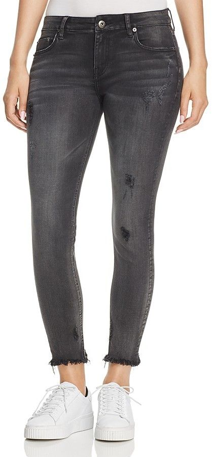 Pistola Charlotte Distressed Skinny Ankle Jeans in Fame Game