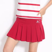 Women Spring Summer Sports Tennis Badminton Sport Skirt Pleated Skirt Sport Skort with Safety Pants