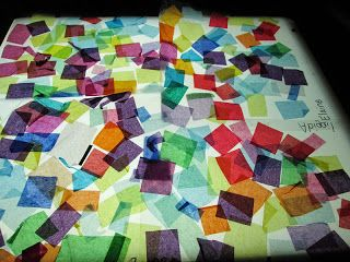 Tissue Paper on the Light Table
