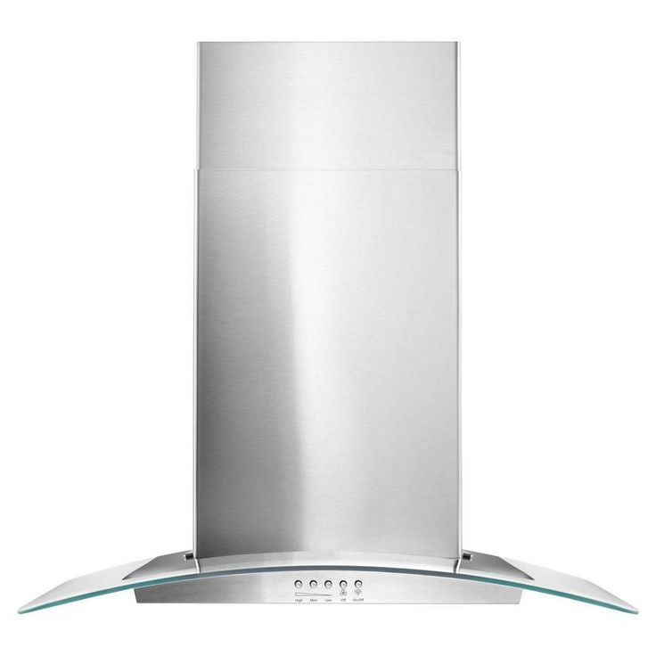 Whirlpool 30 in. Concave Glass Wall Mount Range Hood in Stainless Steel-WVW51UC0FS - The Home Depot