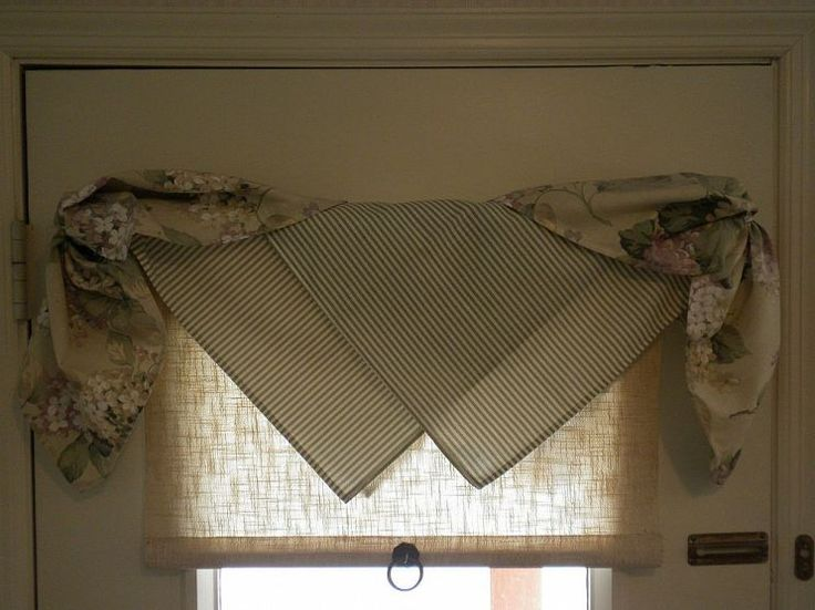 Window Treatment with Napkins