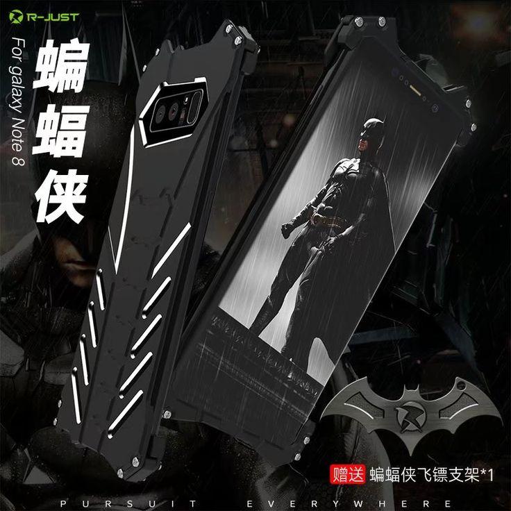 Para Samsung Nota 8 Caso de Lujo 3D caso Delgado Ultra fino de FE Armadura de aluminio de parachoques del Metal Duro Volver Cubierta de la Caja Del Teléfono de Protección Completa Capa | 32830371385_pt