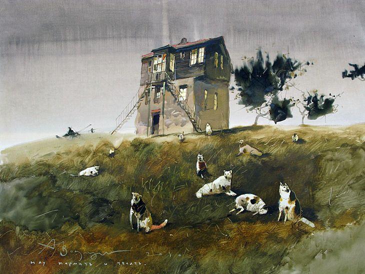 Alexander Votsmush Watercolor Paintings
