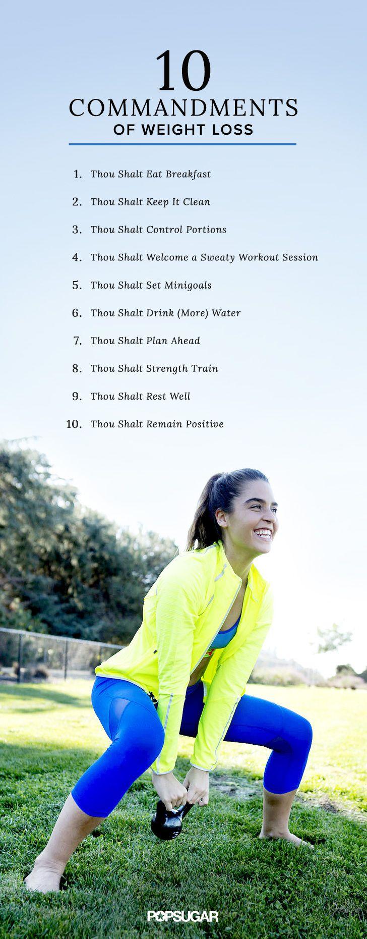 The 10mandments Of Weight Loss