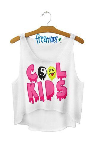 cool kids Crop Top - Fresh-tops.com $28