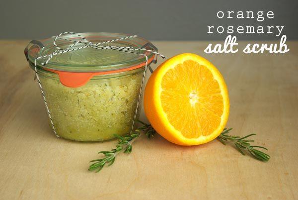 Orange salt scrub
