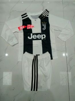 3a27229f2 2018-19 Cheap Youth Kit Juventus Home LS Replica Soccer Kids Suit  DFC3