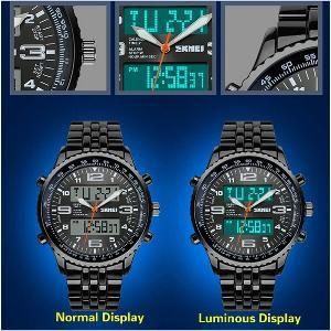 Jam Tangan Pria SKMEI S-Shock Dual Time 1032