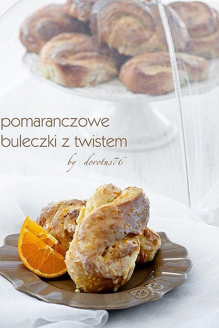 Pomarańczowe bułeczki drożdżowe z twistem ;-)