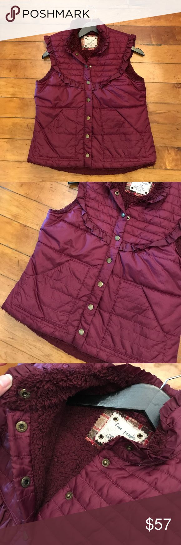 Free People Fuzzy Inside Puffer Vest Size Small ⚜️I love receiving offers through the offer button!⚜️ Good condition, as seen in pictures! Fast same or next day shipping! Open to offers but I don't negotiate in the comments so please use the offer button Check out the rest of my closet for more Adidas, Lululemon, Tory Burch, Urban Outfitters, Free People, Anthropologie, Victoria's Secret, Sam Edelman, Topshop, Asos, Revolve, Brandy Melville, Zara, and American Apparel! Free People Jackets…