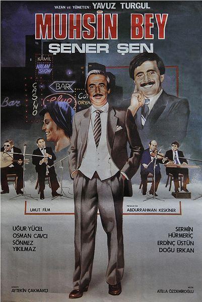 Dosya:Muhsin Bey film afişi.jpgMuhsin Bey, 1987 yapımı, Yavuz Turgul'un yazıp yönettiği film. Oyuncular Şener Şen ve Uğur Yücel, sinema çevrelerine göre bu film ile oyunculuklarının zirvesine çıkmışlardır. Film yine birçok otoriteye göre Türk sinema tarihinin en başarılı filmlerindendir.