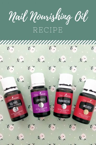 Nail oil recipe to help grow, moisturize, and strengthen nails naturally.