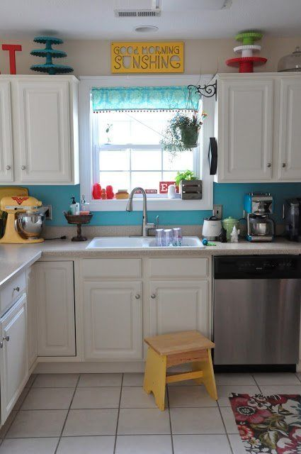 25 best ideas about red yellow turquoise on pinterest for Bright kitchen color ideas
