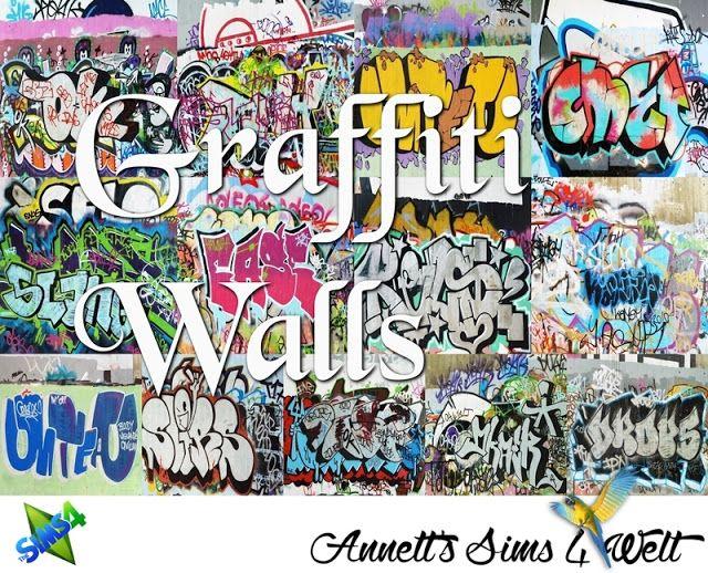Graffiti Walls at Annett's Sims 4 Welt • Sims 4 Updates