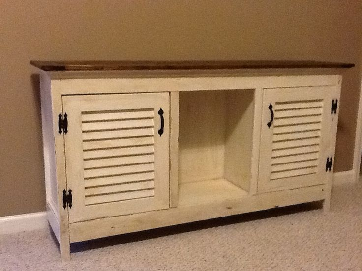 Tv Stand Repurposed Shutters For Doors Homemade