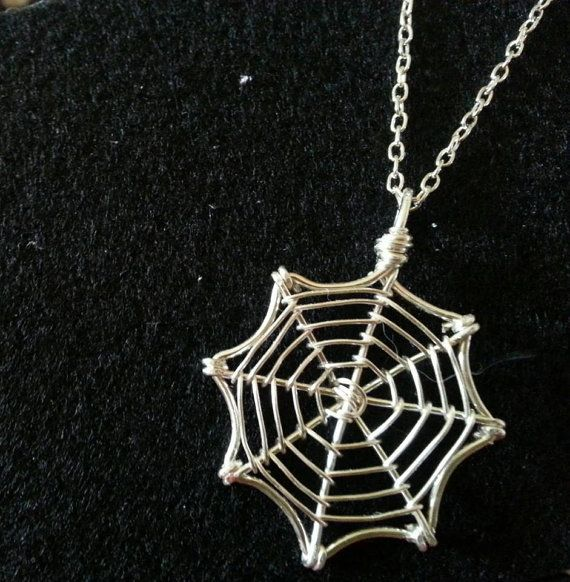 Silver Wire Spider Web Necklace by hearttohearts on Etsy, $25.00 I LOVE this neckalace!