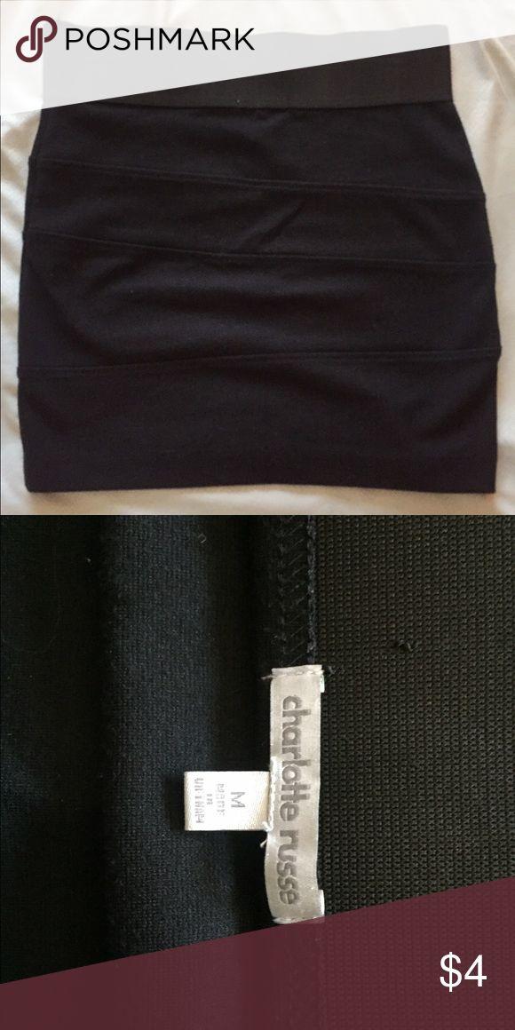 Black tube skirt Black tube skirt. It has been loved but still in good quality! Charlotte Russe Skirts Mini