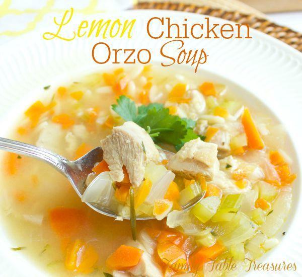 Lemon Chicken Orzo Soup - Family Table Treasures
