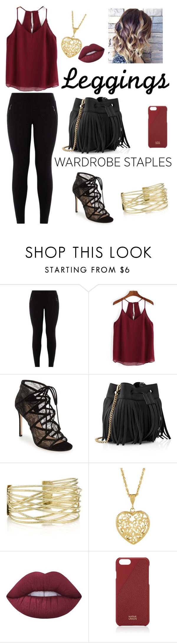 """take me on"" by anushkaeliaza ❤ liked on Polyvore featuring New Look, Pour La Victoire, Whistles, Lime Crime, Native Union, Leggings and WardrobeStaples"