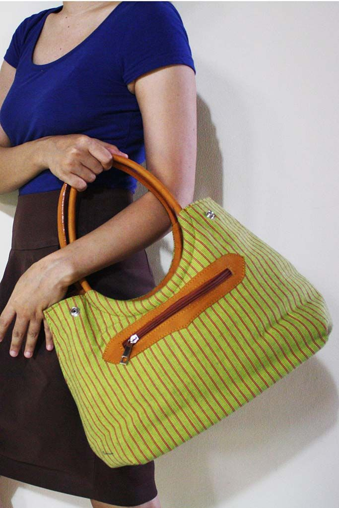 Tyas Yellow Lurik Bag - Djokdja Batik and Handicraft
