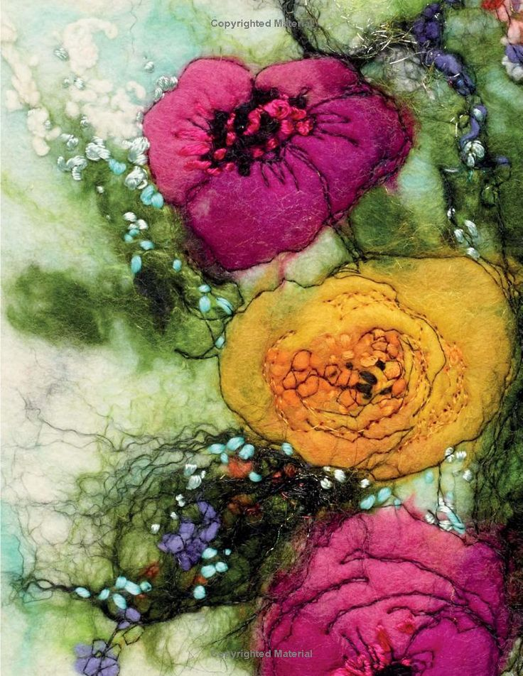 Flowers in Felt & Stitch by Moy Mackay