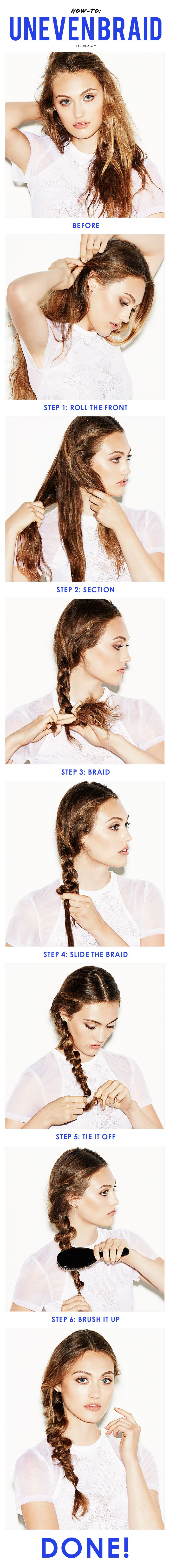How to create a textured uneven braid