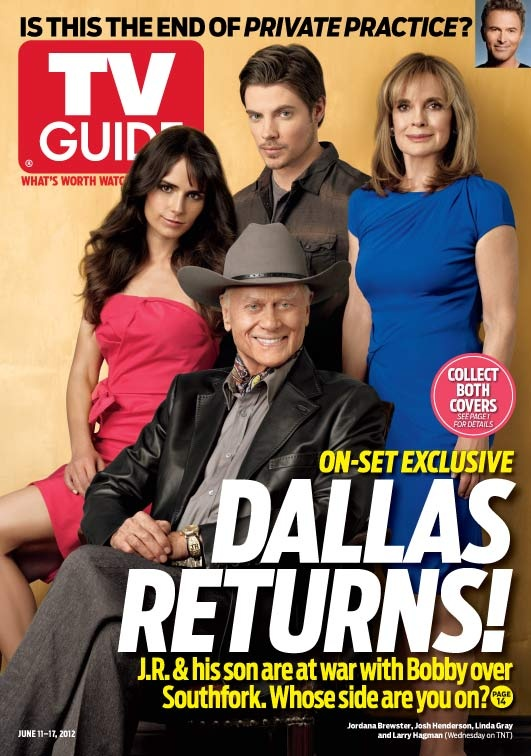June 11, 2012. Jordana Brewster, Josh Henderson, Linda Gray and Larry Hagman of TNT's Dallas