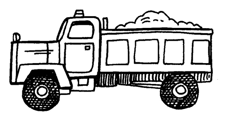 Coloring Page On Dump Truck Clip Art Party Ideas