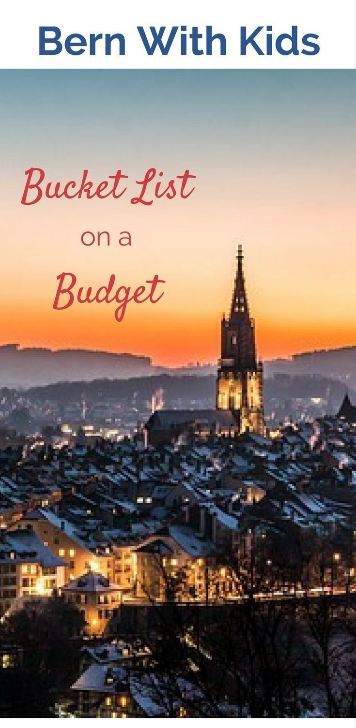 Going to Bern, Switzerland with Kids? Here's some of the sights to see using your Swiss Rail Pass.