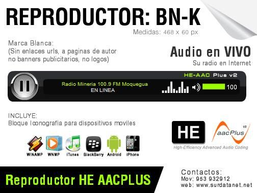 #Moquegua #Streaming Reproductor HE AAC: BK Gratis (ideal para cabecera de…