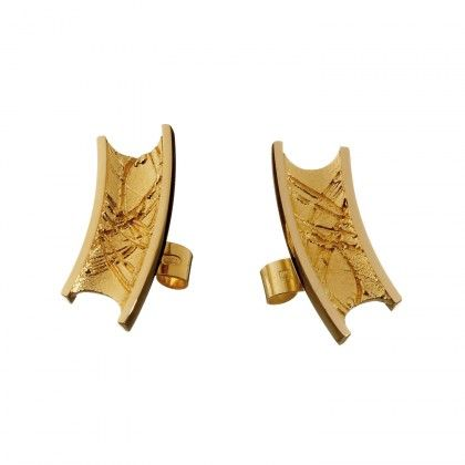 Eariads Earrings / Design: Christophe Burger / Gold Earrings / Lapponia Jewelry / Handmade in Helsinki