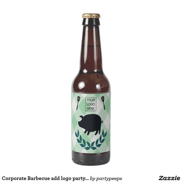 Corporate Barbecue add logo party favor Beer Bottle Label