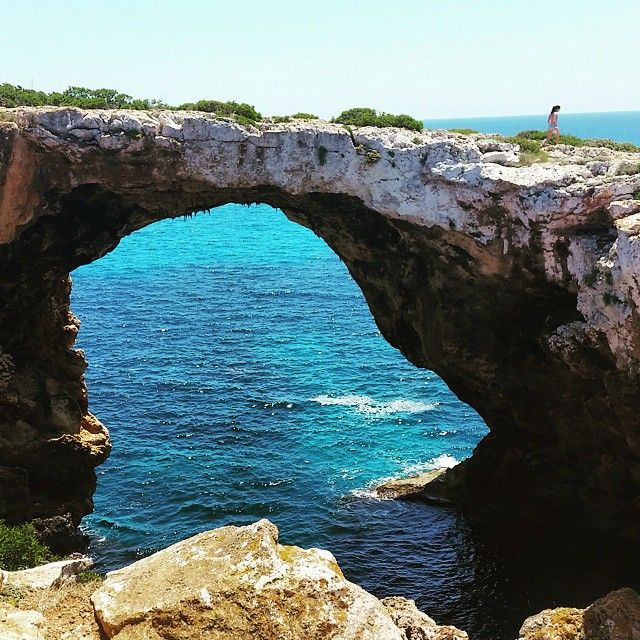 #calavarques #deepwatersoloing at the nicest #arch @rockclimbing course #coasteering with #californian girl