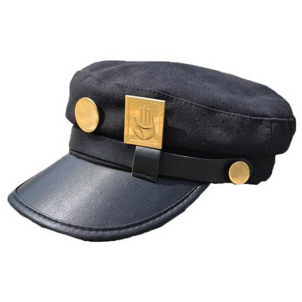 XCOSER Teens Jotaro Cosplay Visored Baseball Cap Hat Props ($23) ❤ liked on Polyvore featuring accessories, hats, baseball hats, ball cap, sun visor hat, ball cap hats and visor hats