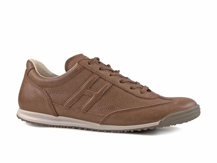 Sneakers Hogan uomo in pelle Marrone chiaro - Italian Boutique $186