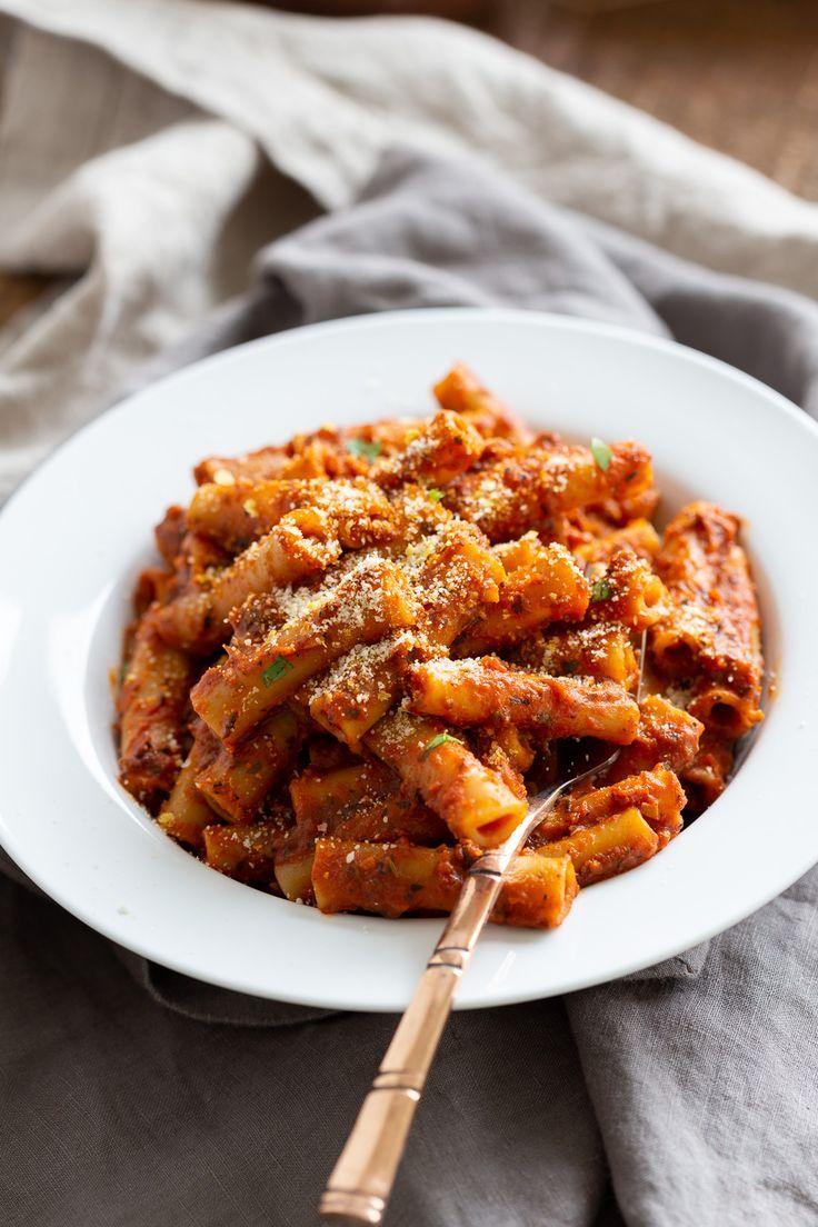 Instant Pot Ziti With Tomato Sauce Recipe Quick Pasta Recipes Vegan Recipes Easy How To Cook Pasta