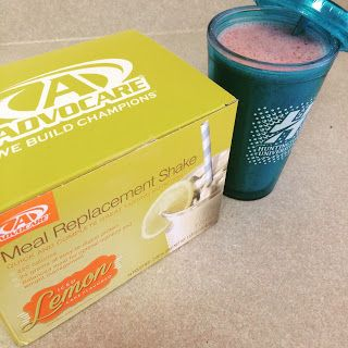 Iced Lemon Meal Replacement (strawberry lemonade smoothie) Advocare