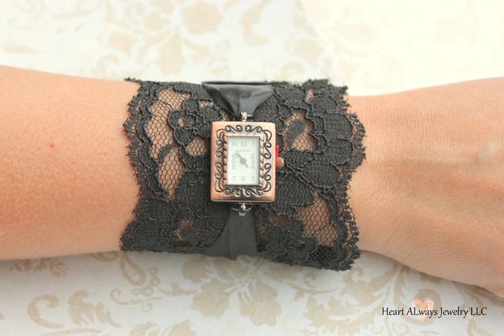 Black Lace Watch with Antique Copper Watch Face. $32.99, via Etsy. WANT THIS!: Watches Faces, Antique Copper, Crafts Ideas, Antiques Copper, Black Laces, Copper Watches, Crafty Lady, 3299, Lace Watches
