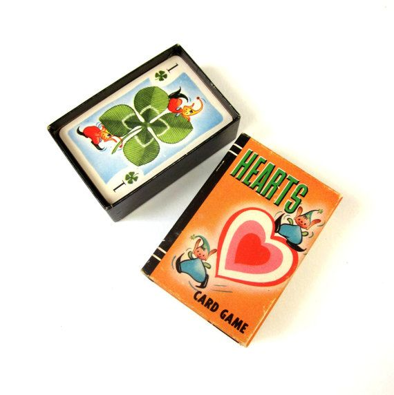 Whitman Miniature Hearts Card Game 1951 / by AttysSproutVintage