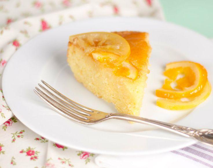 Gâteau à l'huile d'olive, orange et bergamote